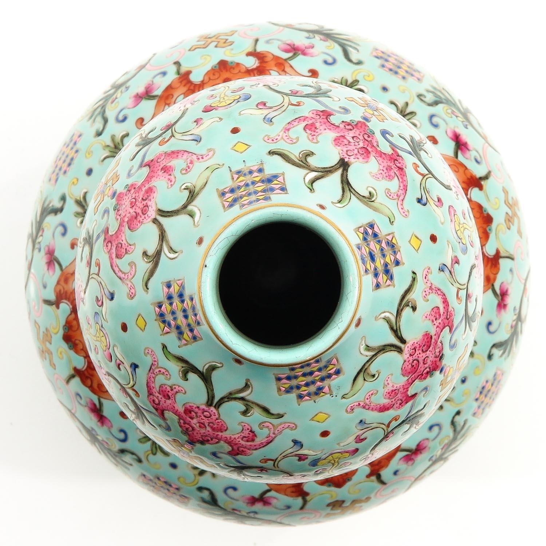 A Famille Rose Gourd Vase - Image 4 of 9