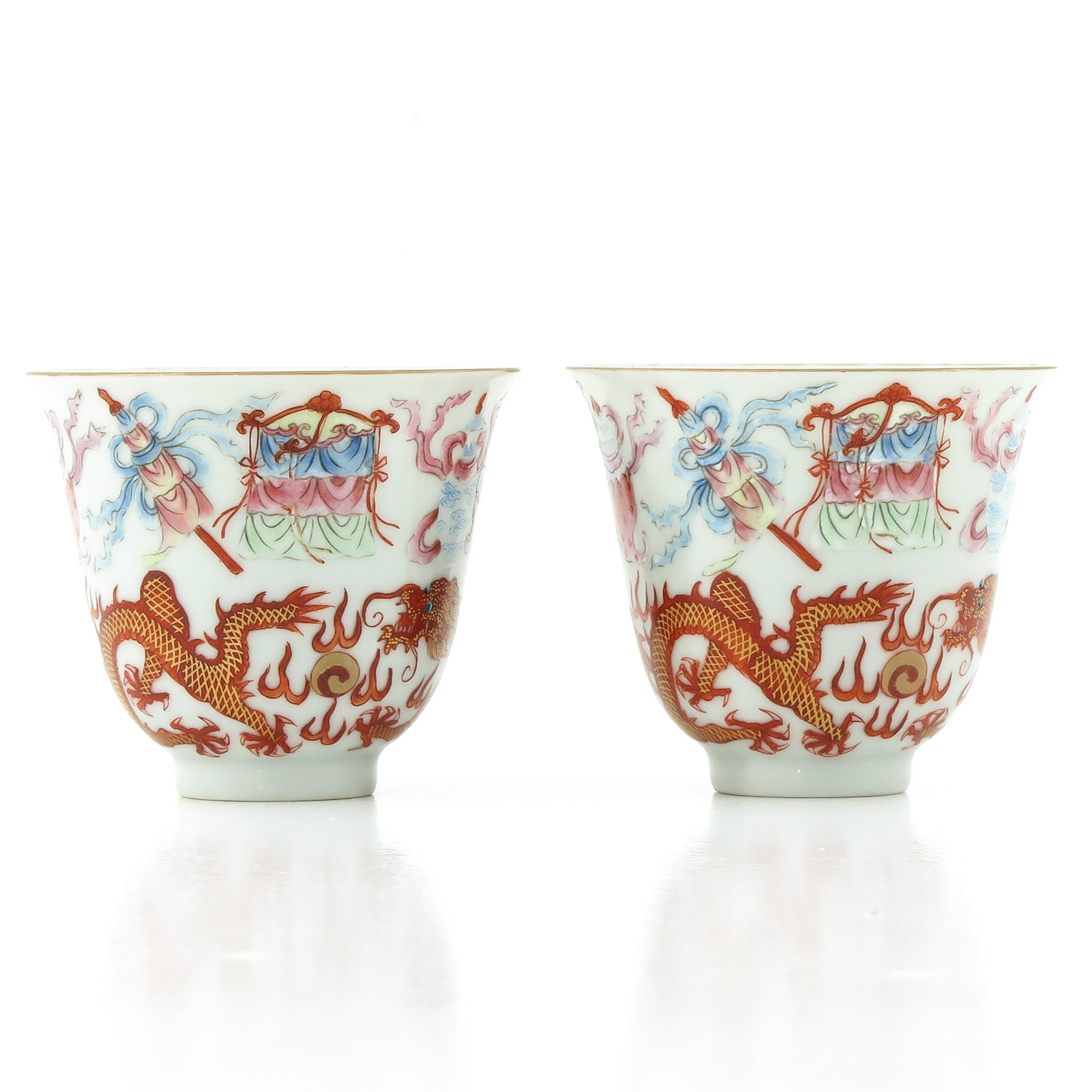 A Pair of Famille Rose Cups - Image 4 of 10