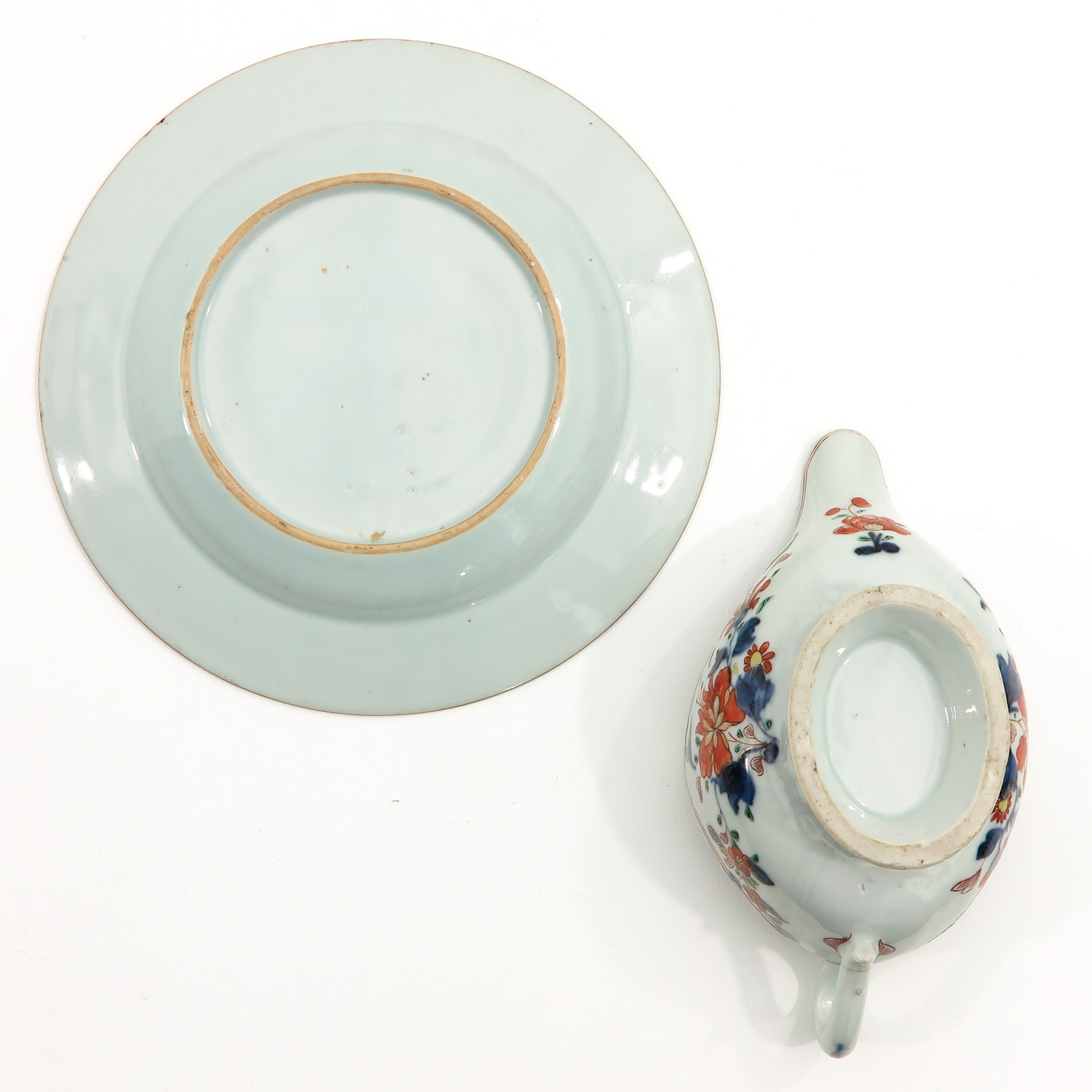 An Imari Plate and Gravy Boat - Image 6 of 10