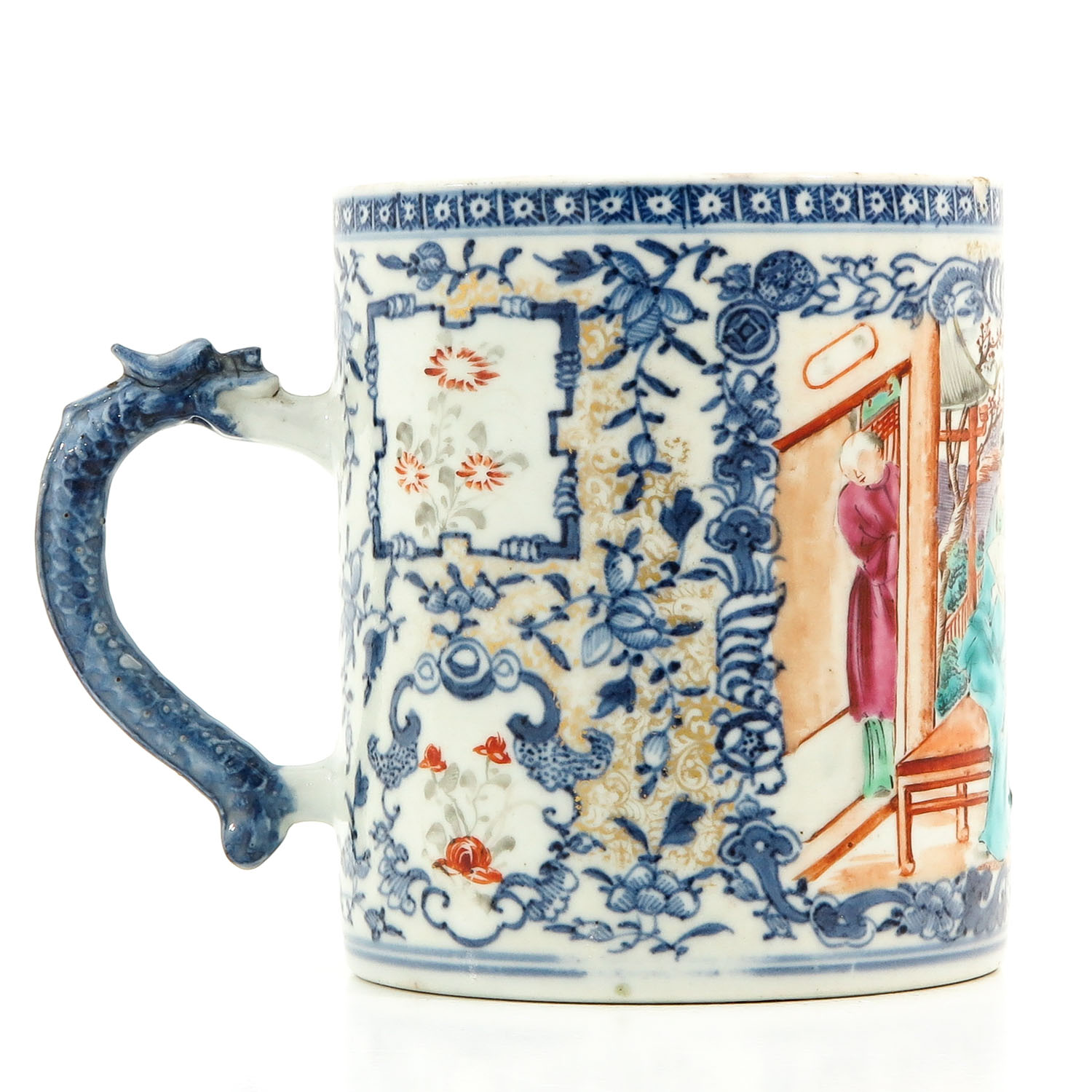 A Polychrome Decor Mug - Image 3 of 10