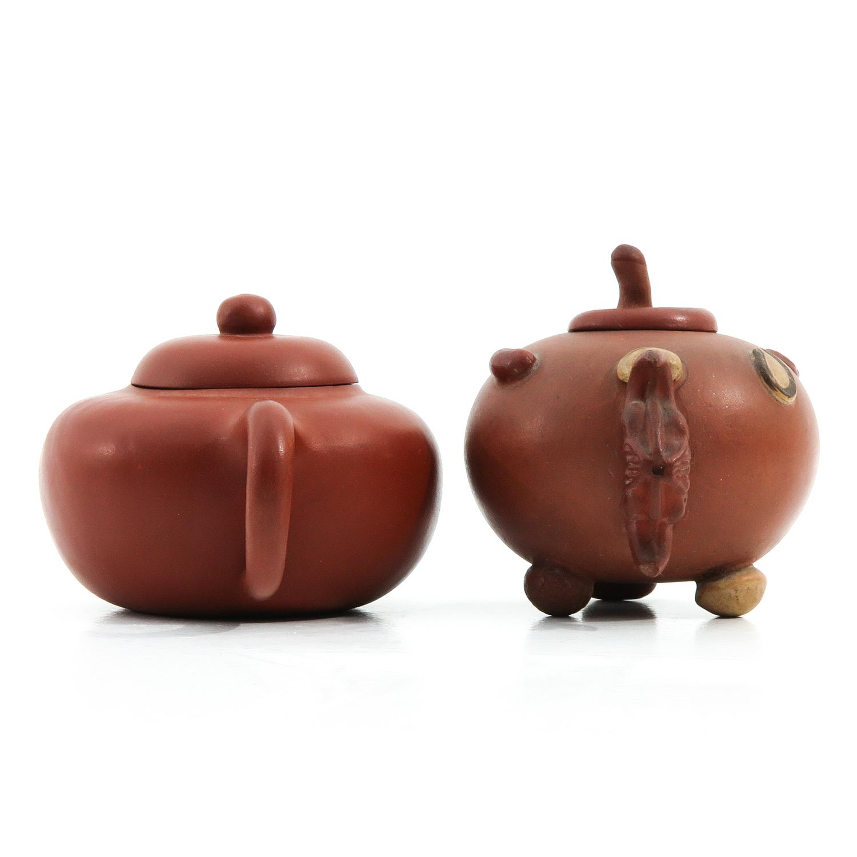 2 Yixing Teapots - Image 2 of 9