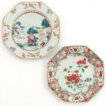 A Lot of 2 Famille Rose Plates