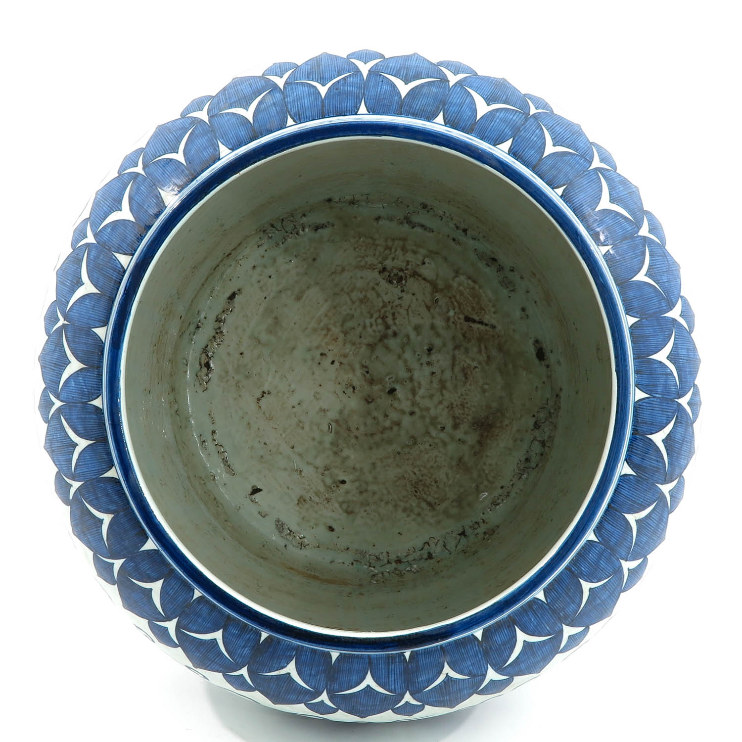 A Large Blue and White Planter - Image 5 of 10