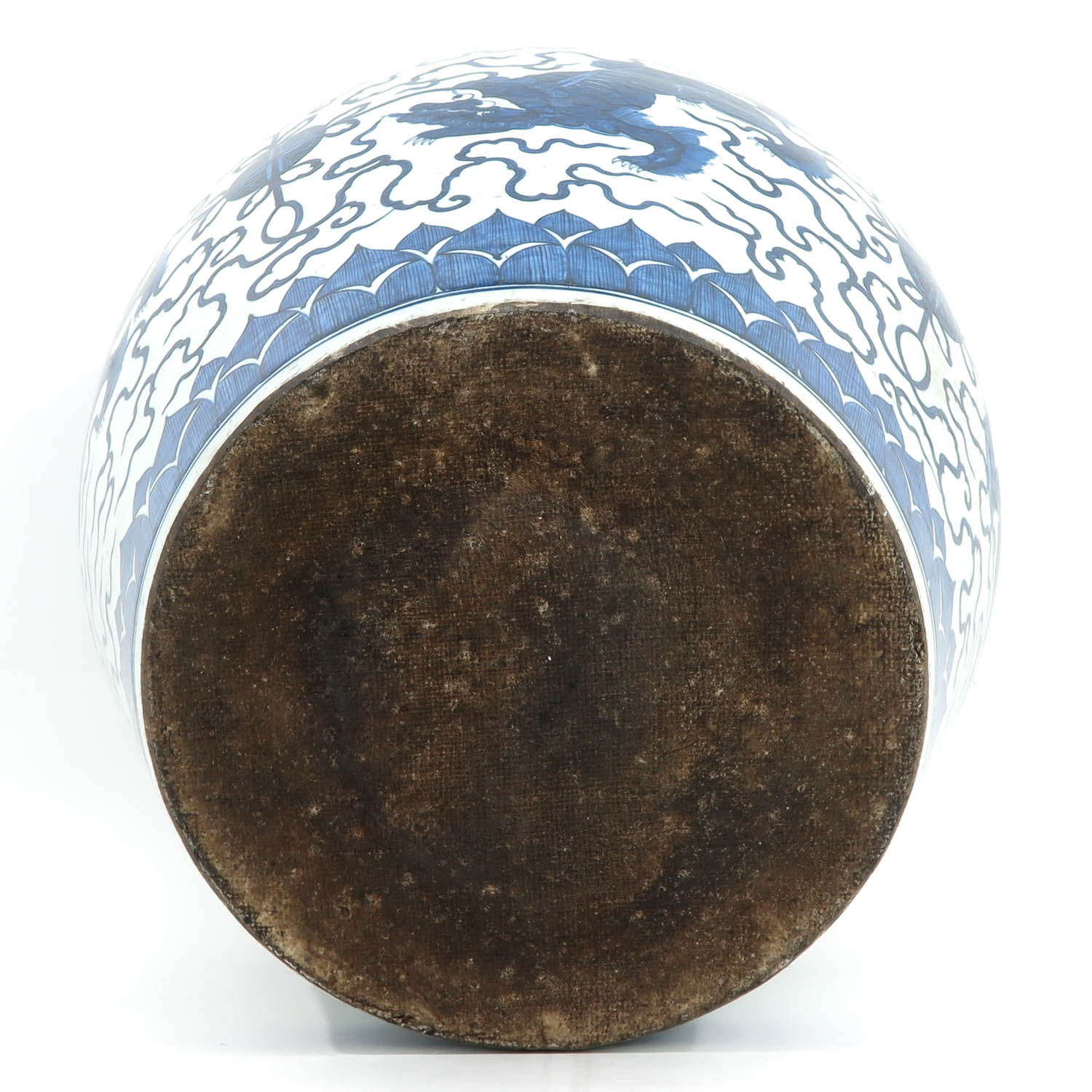 A Large Blue and White Planter - Image 6 of 10