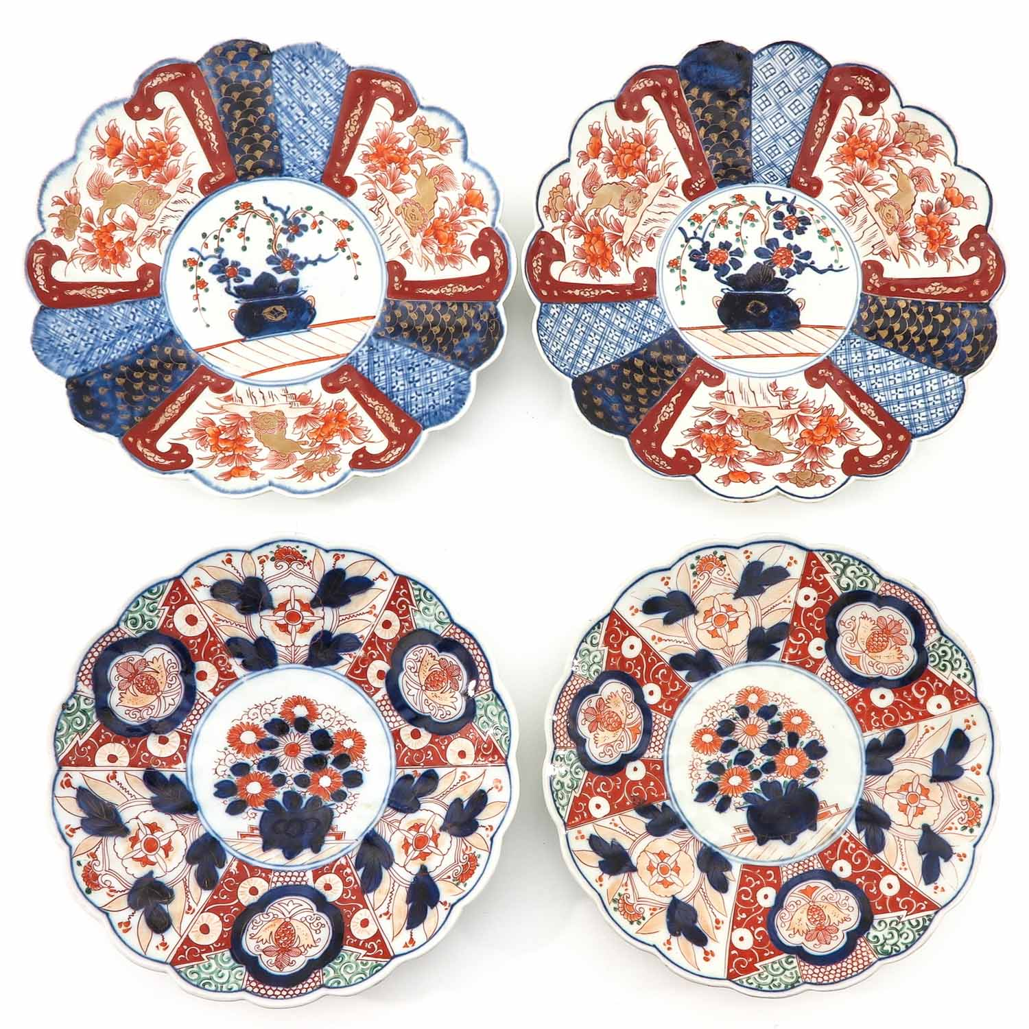 A Collection of 4 Imari Plates
