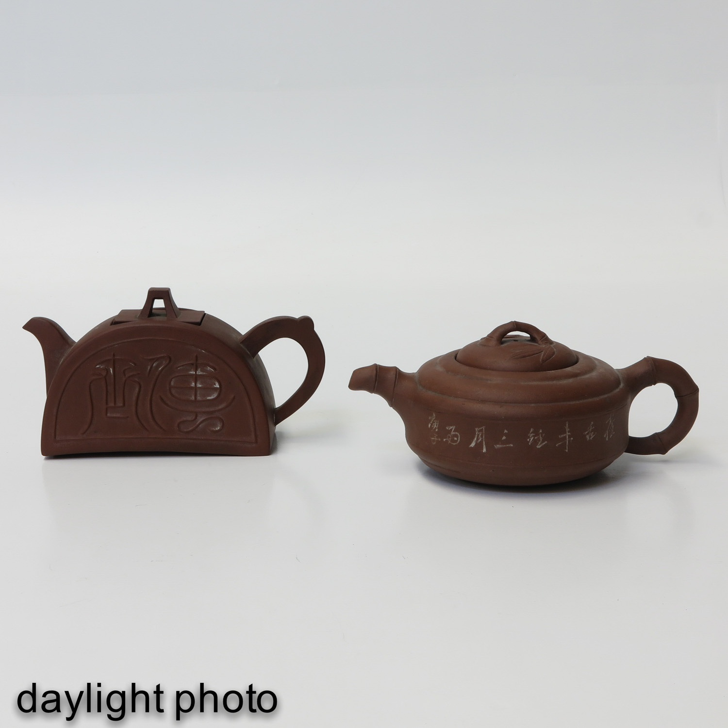 A Lot of 2 Yixing Teapots - Image 7 of 9