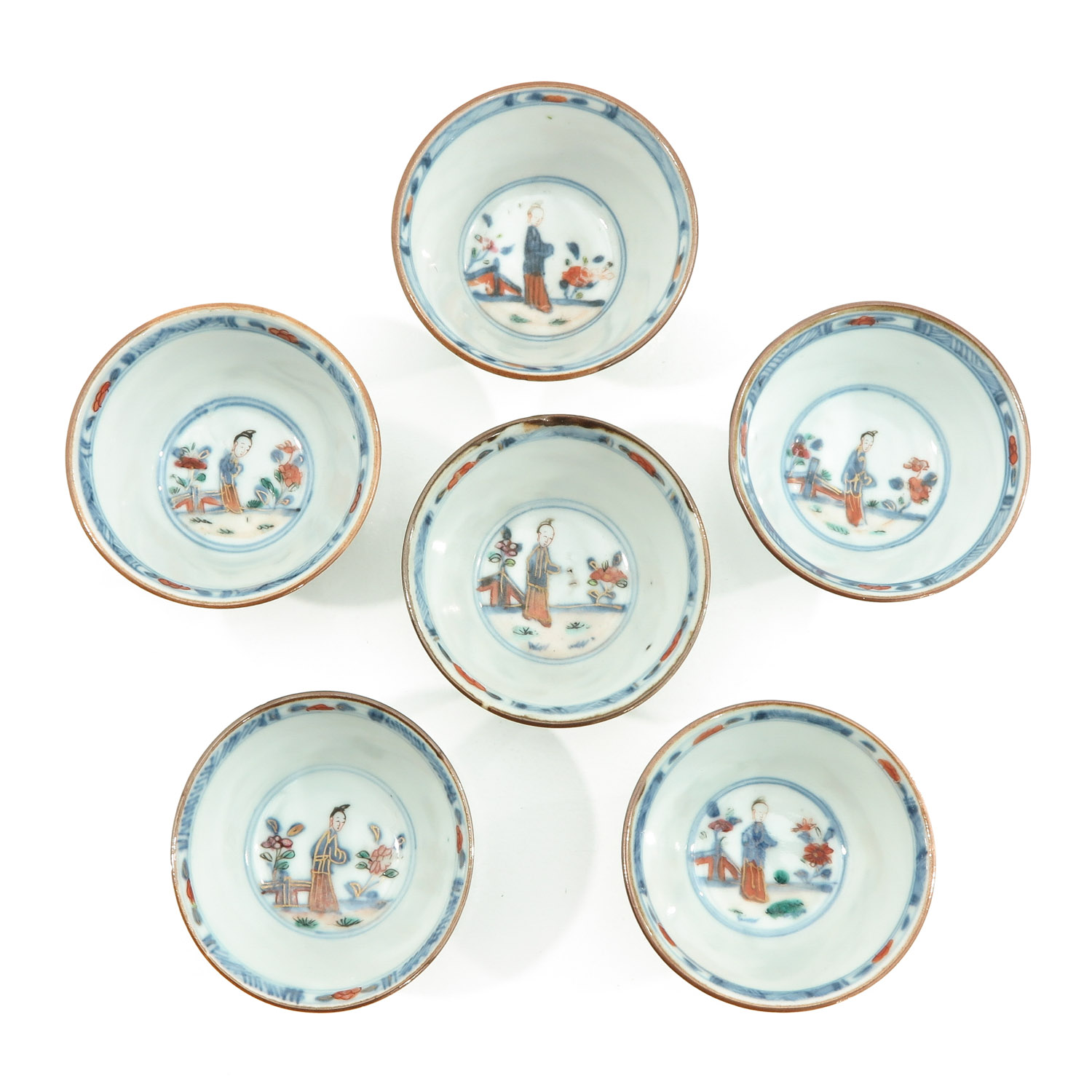 A Set of 6 Cups and Saucers - Image 5 of 10
