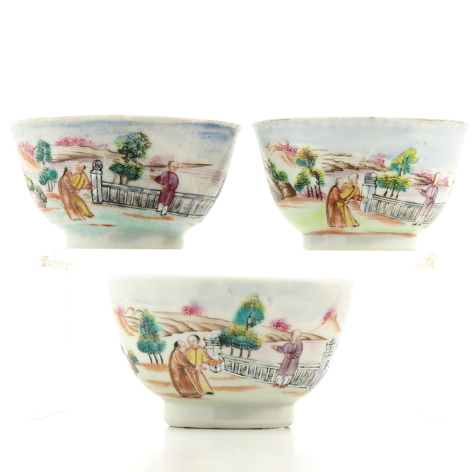 A Series of 3 Cups and Saucers - Image 3 of 10