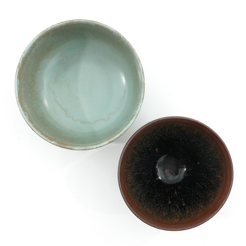 A Hare Fur Tea Bowl and Celandon Bowl - Image 5 of 10