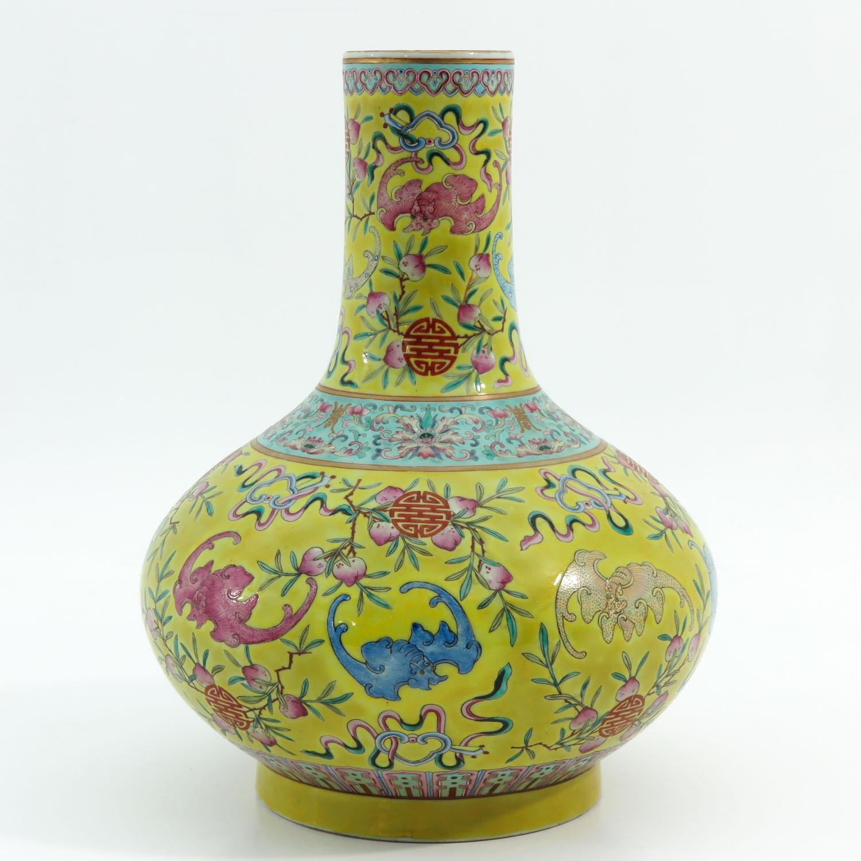 A Famille Rose Bottle Vase - Image 3 of 10