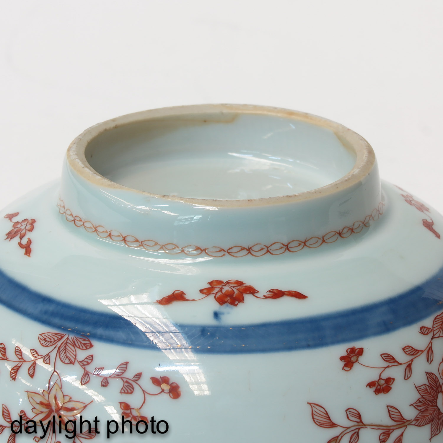 A Blue and Iron Red Bowl - Image 8 of 9