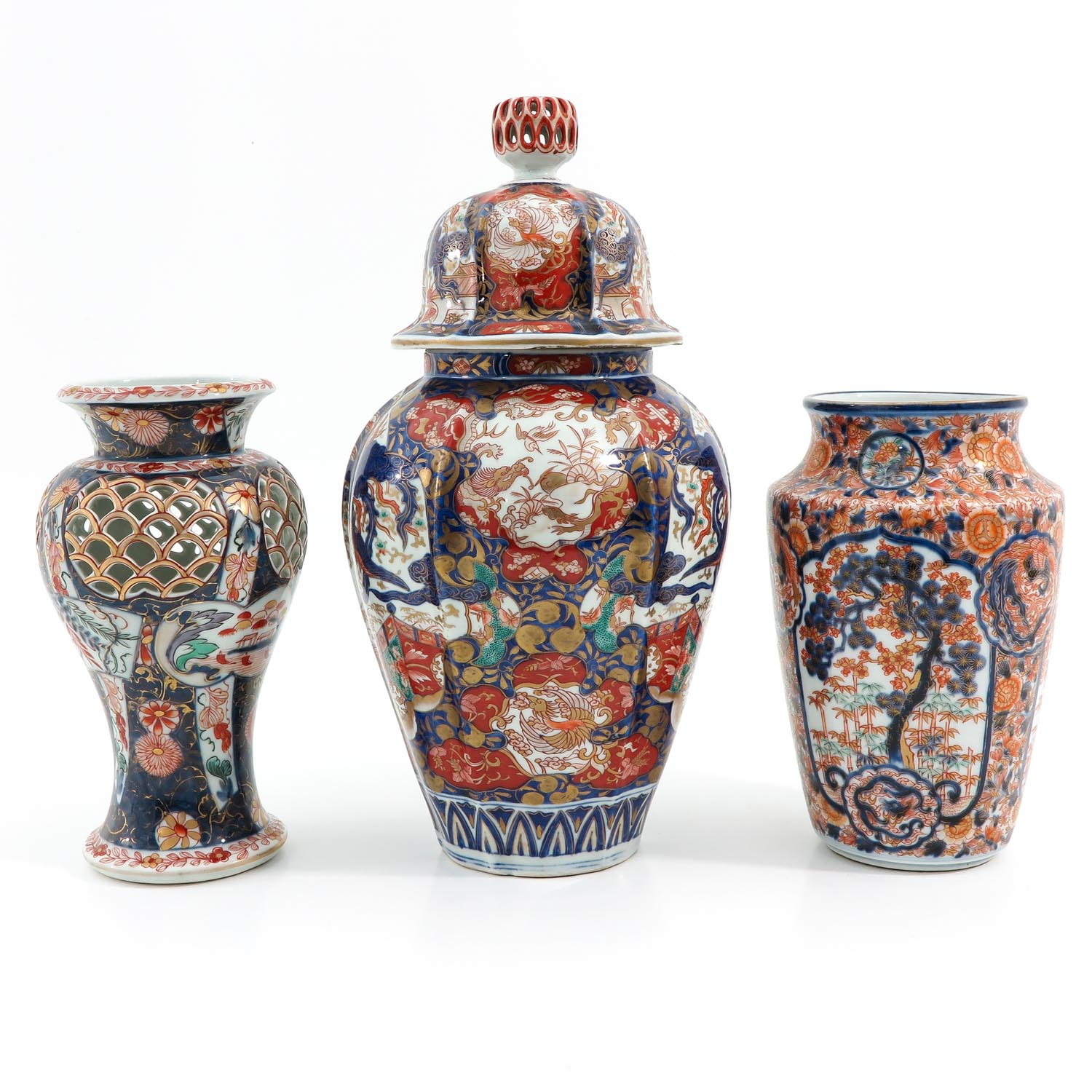 A Collection of 3 Imari Vases - Image 4 of 9