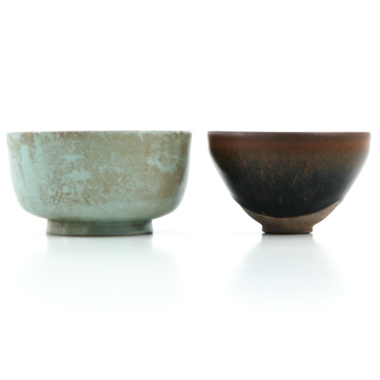 A Hare Fur Tea Bowl and Celandon Bowl - Image 4 of 10