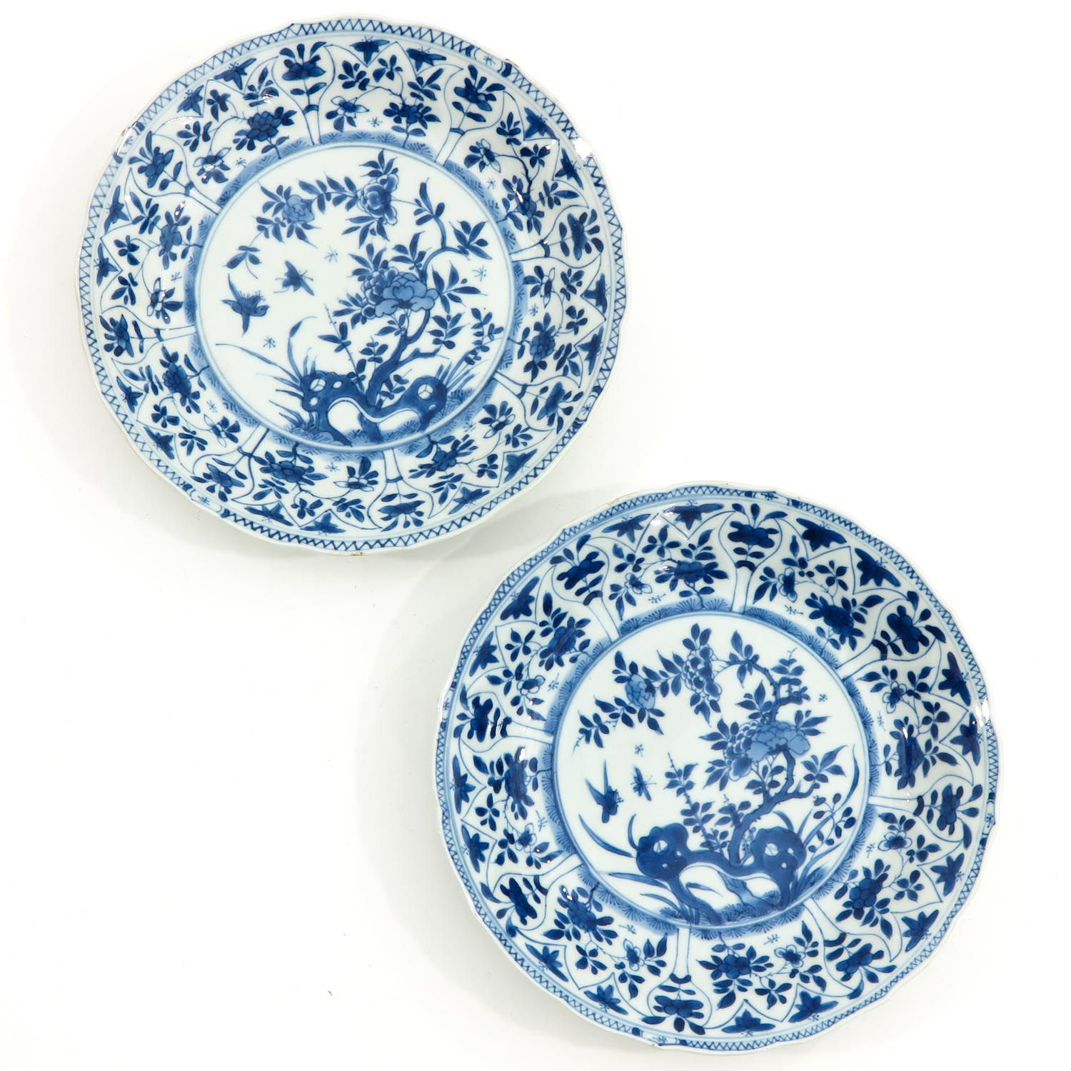 A Collection of 6 Blue and White Plates - Image 7 of 10