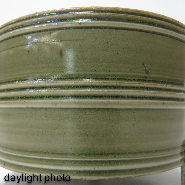 A Celadon Tripod Censer - Image 9 of 9