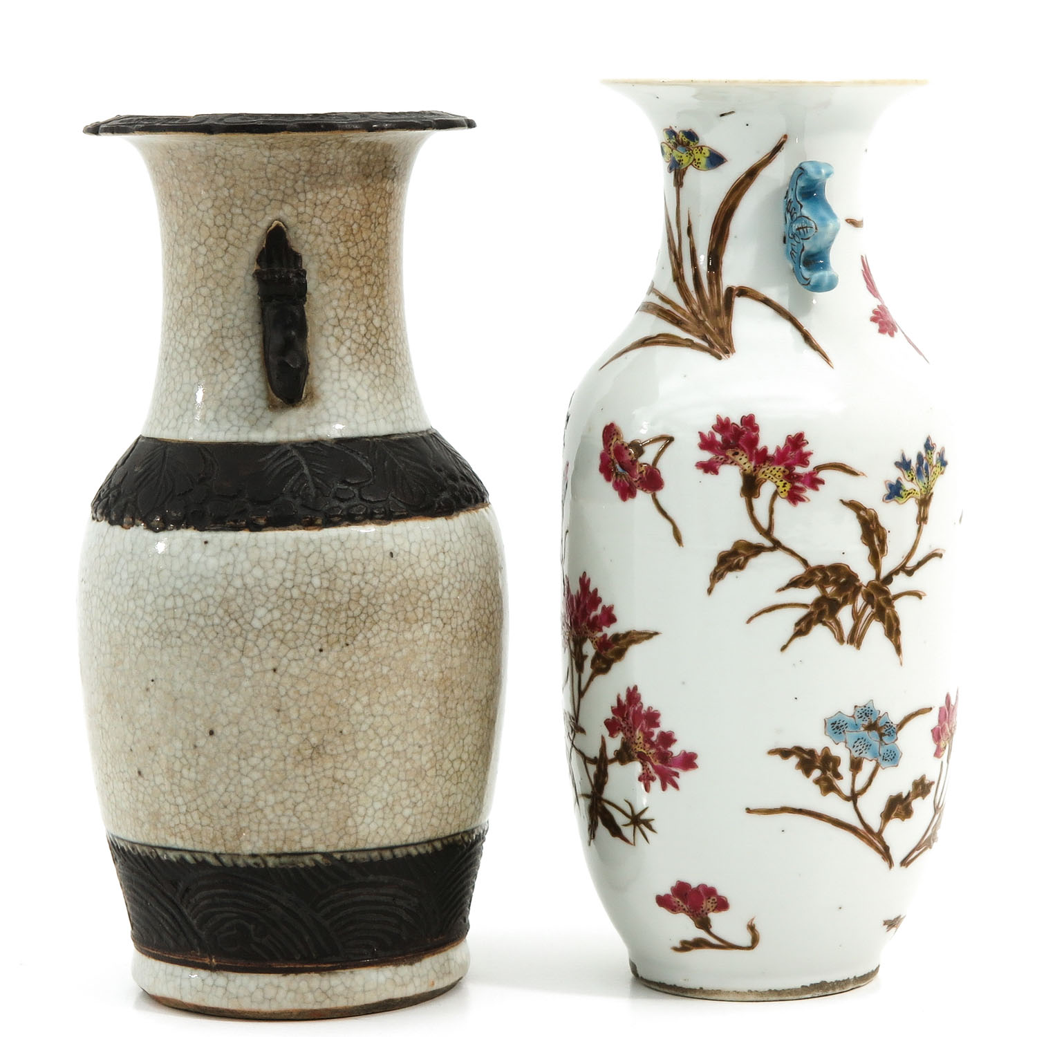 A Famille Rose and Nanking Vase - Image 2 of 9