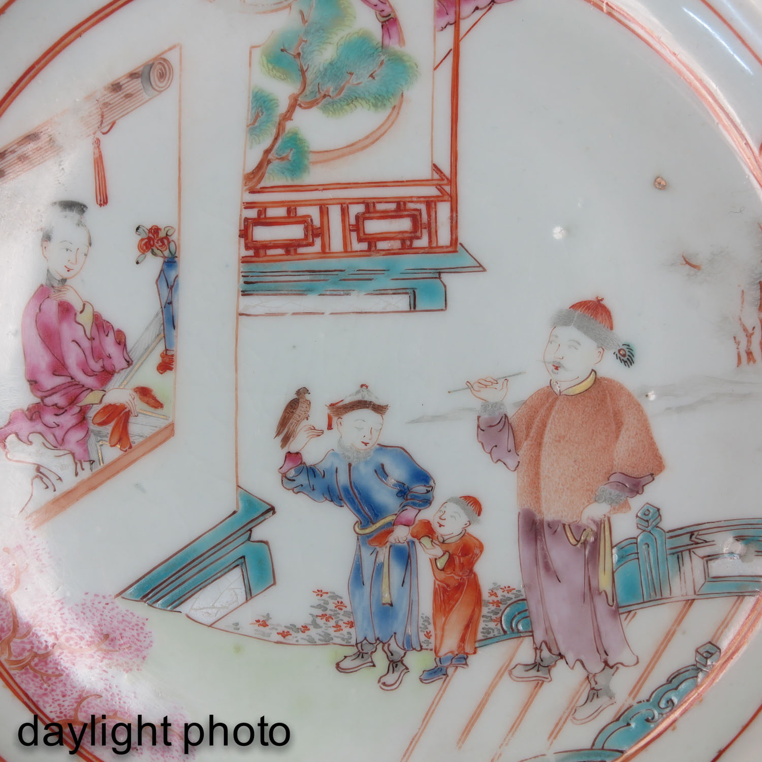 A Pair of Famille Rose Plates - Image 9 of 9