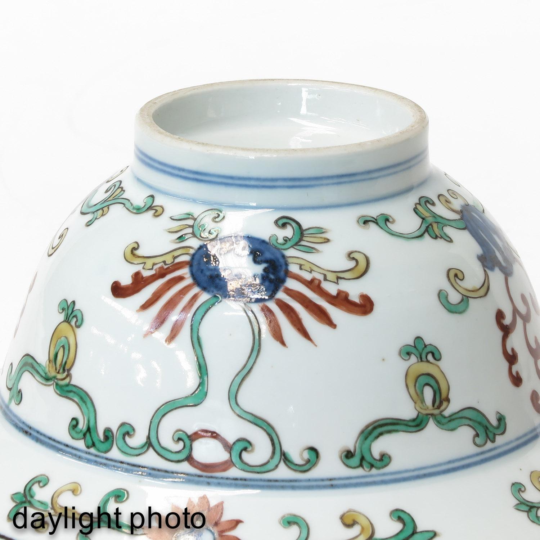 A Polychrome Decor Bowl - Image 8 of 9