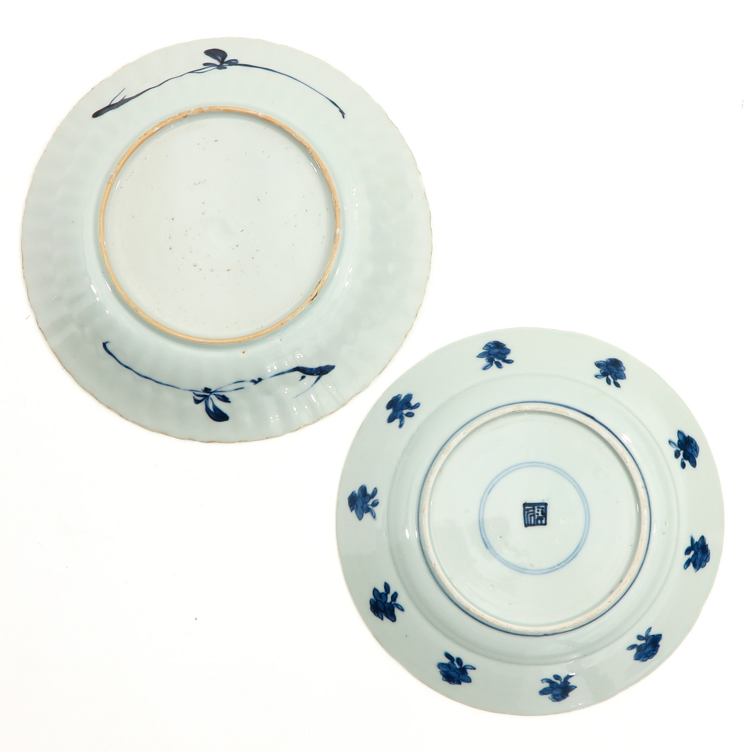 A Lot of 2 Blue and White Plates - Image 2 of 10