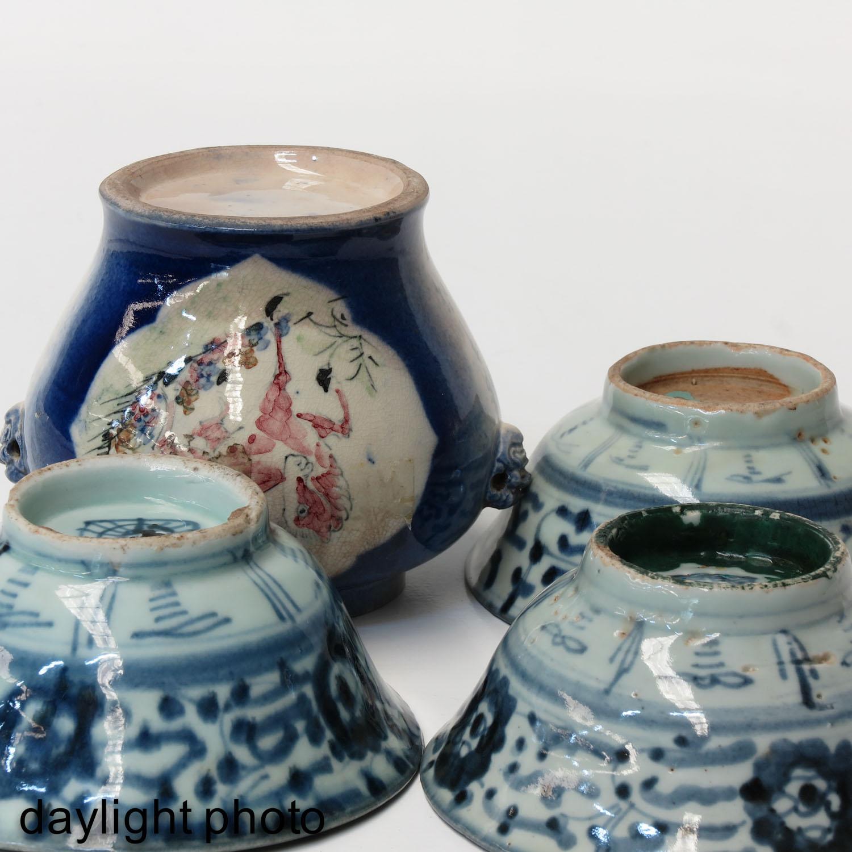 A Ginger Jar and 3 Bowls - Image 8 of 9