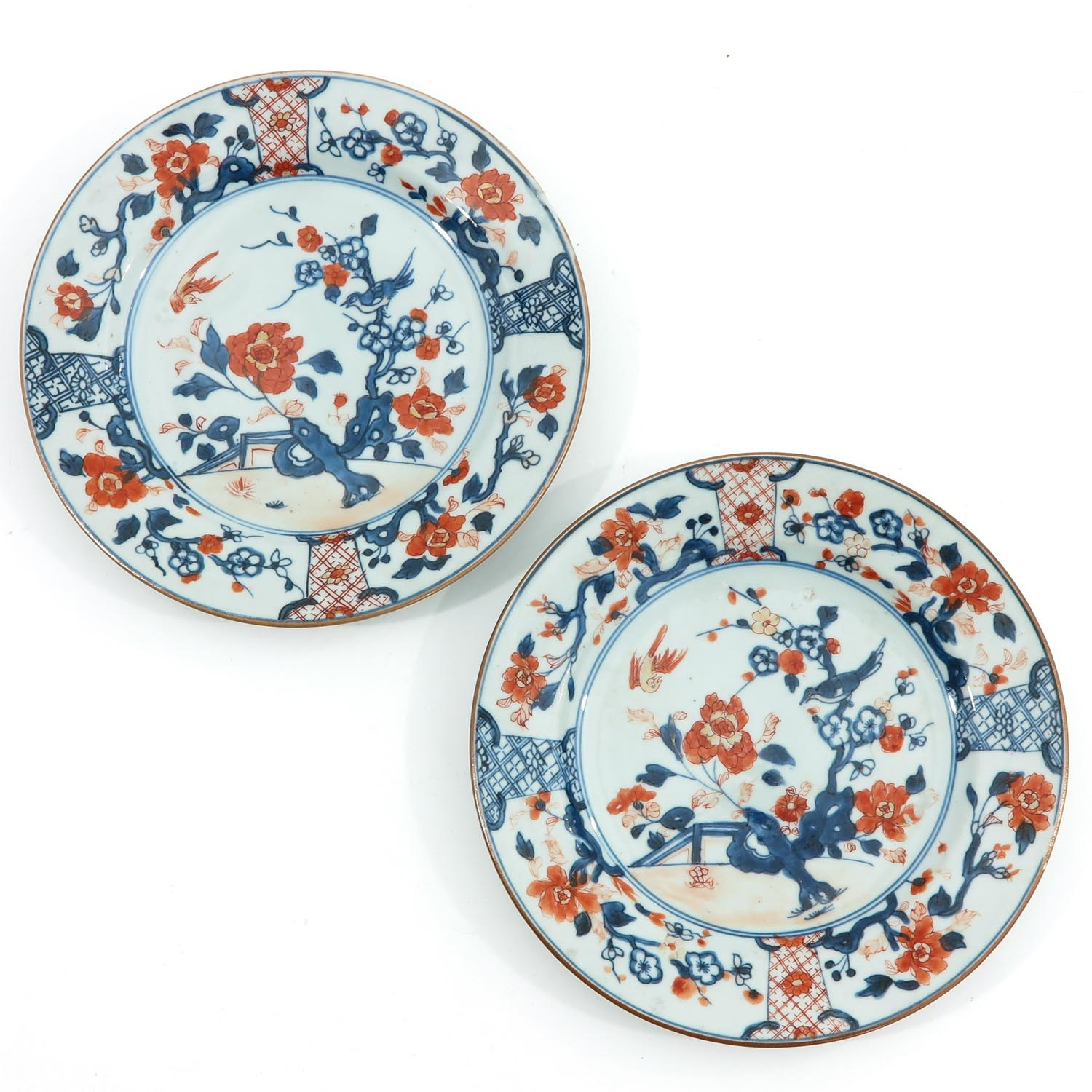 A Collection of 8 Imari Decor Plates - Image 5 of 10