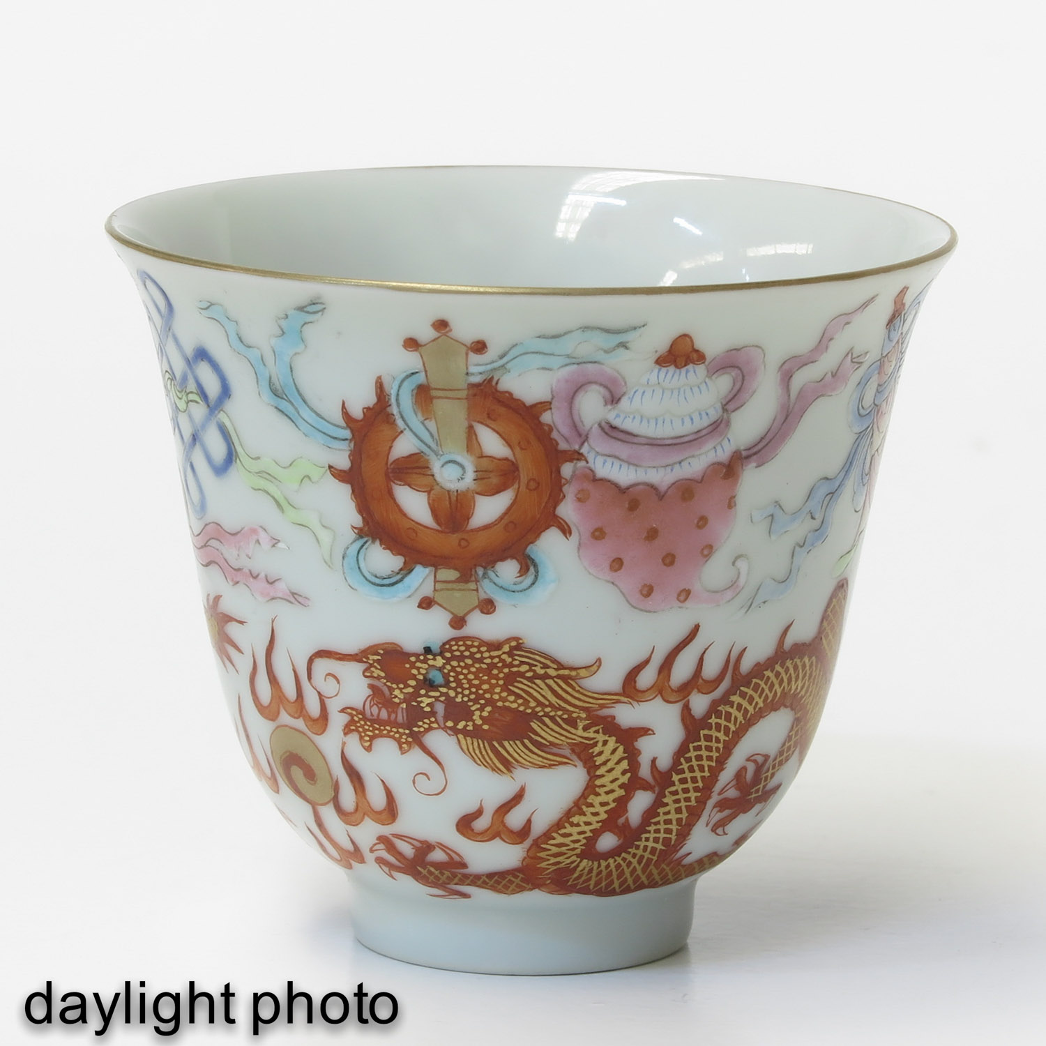 A Pair of Famille Rose Cups - Image 7 of 10