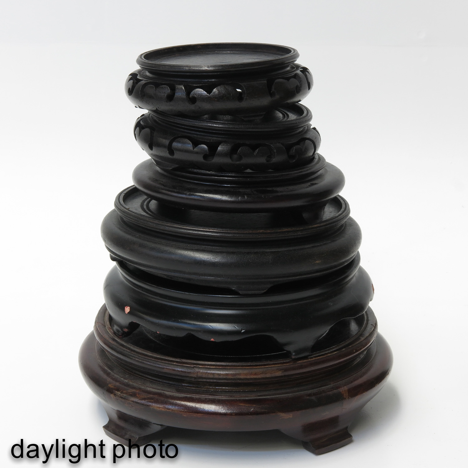 A Large Collection of Wood Bases - Image 6 of 8