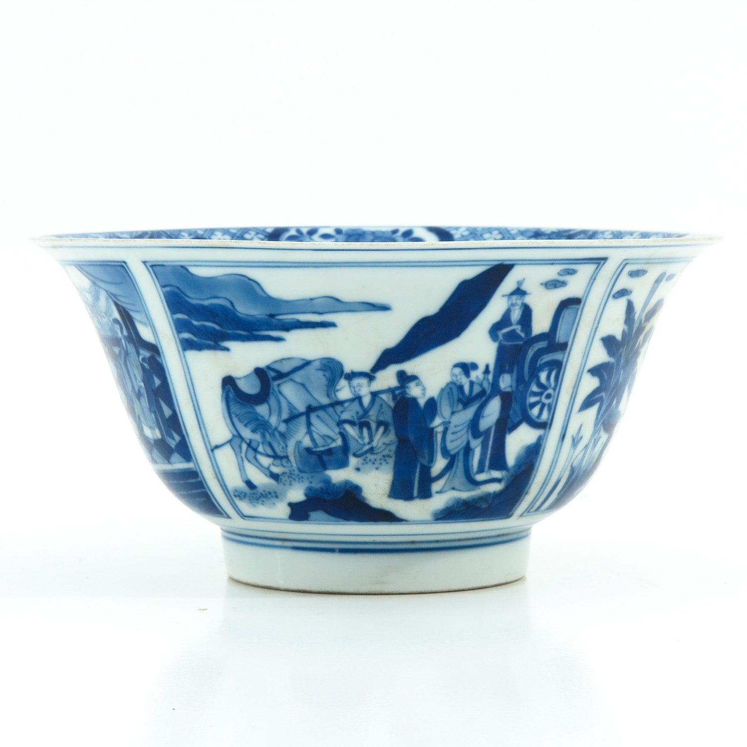 A Blue and White Flared Rim Dish