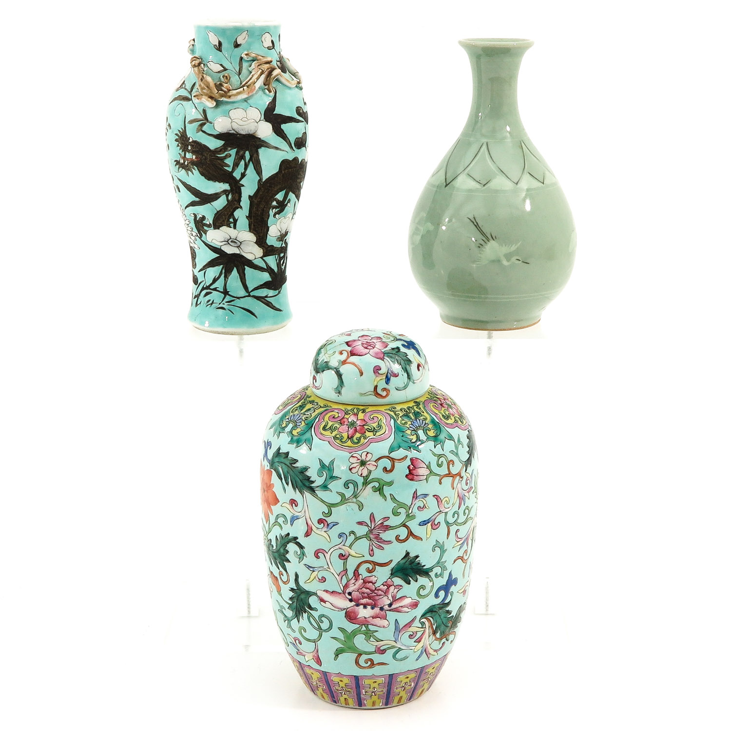 A Collection of 3 Vases