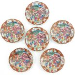 A Series of 6 Mandarin Decor Plates