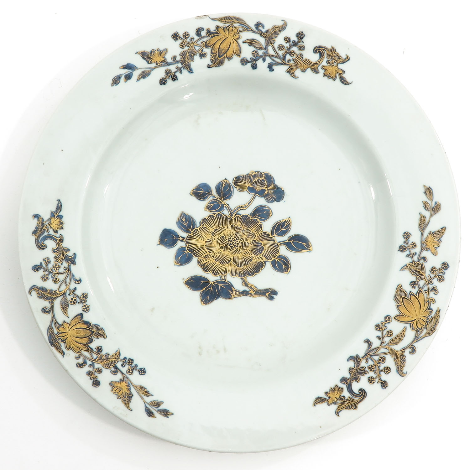 A Blue and Gilt Decor Charger