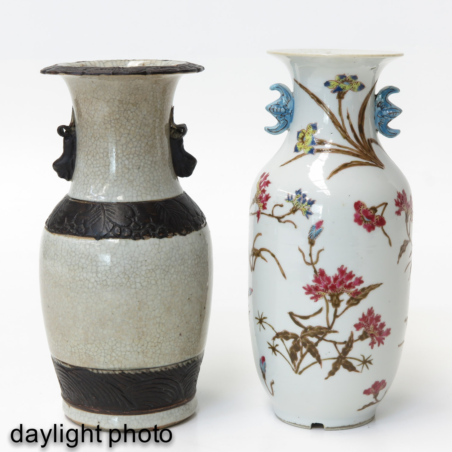 A Famille Rose and Nanking Vase - Image 7 of 9