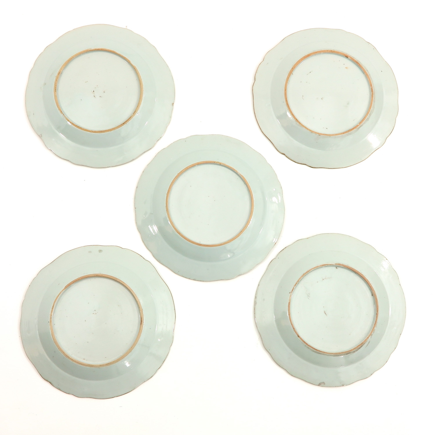 A Series of 5 Famille Rose Plates - Image 2 of 9