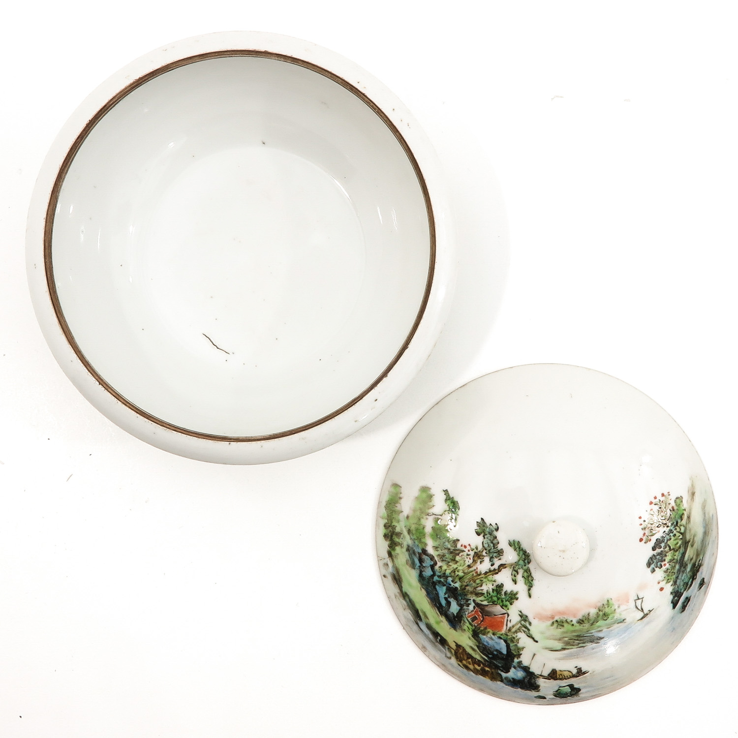A Famille Verte Covered Bowl - Image 5 of 10