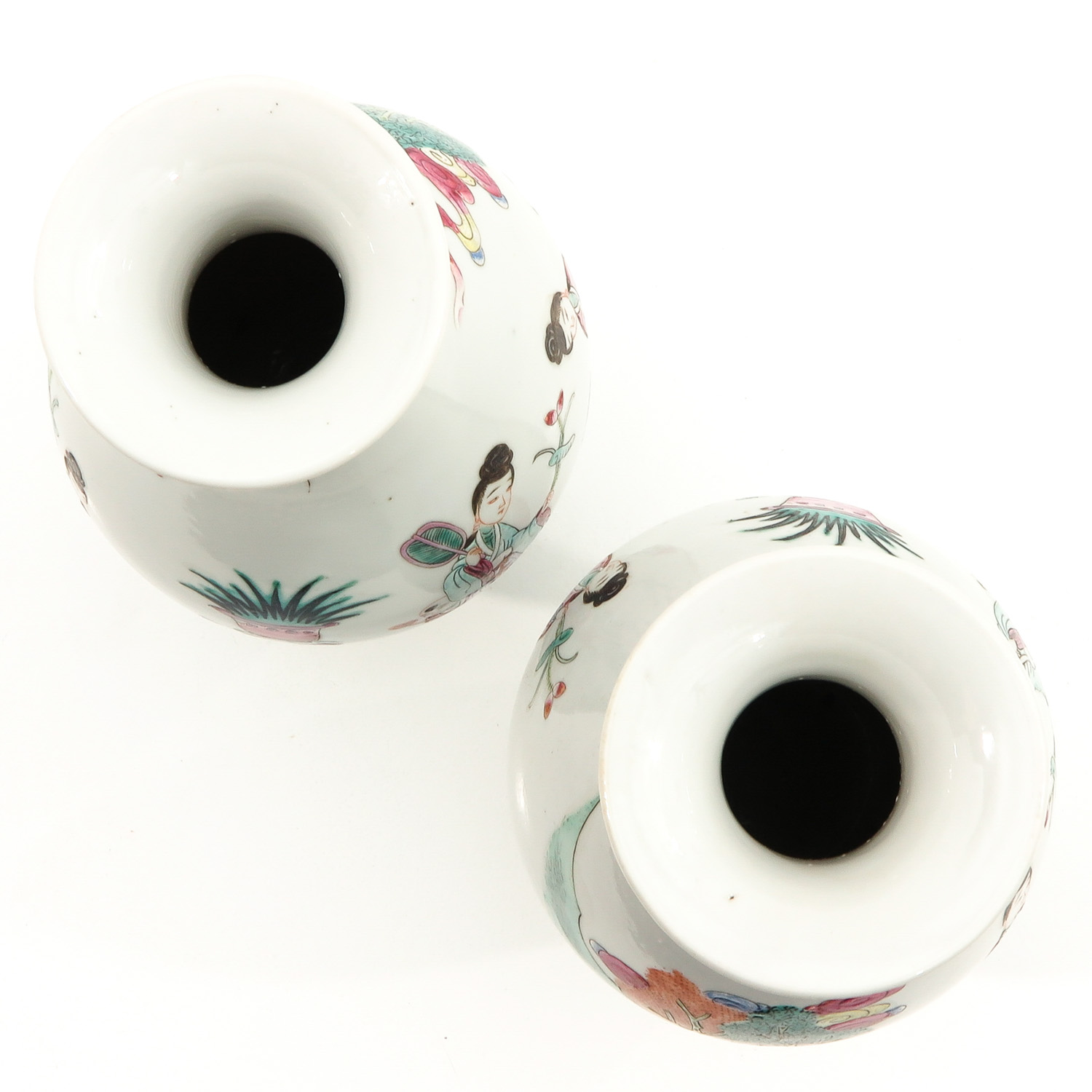A Pair of Famille Rose Vases - Image 5 of 9