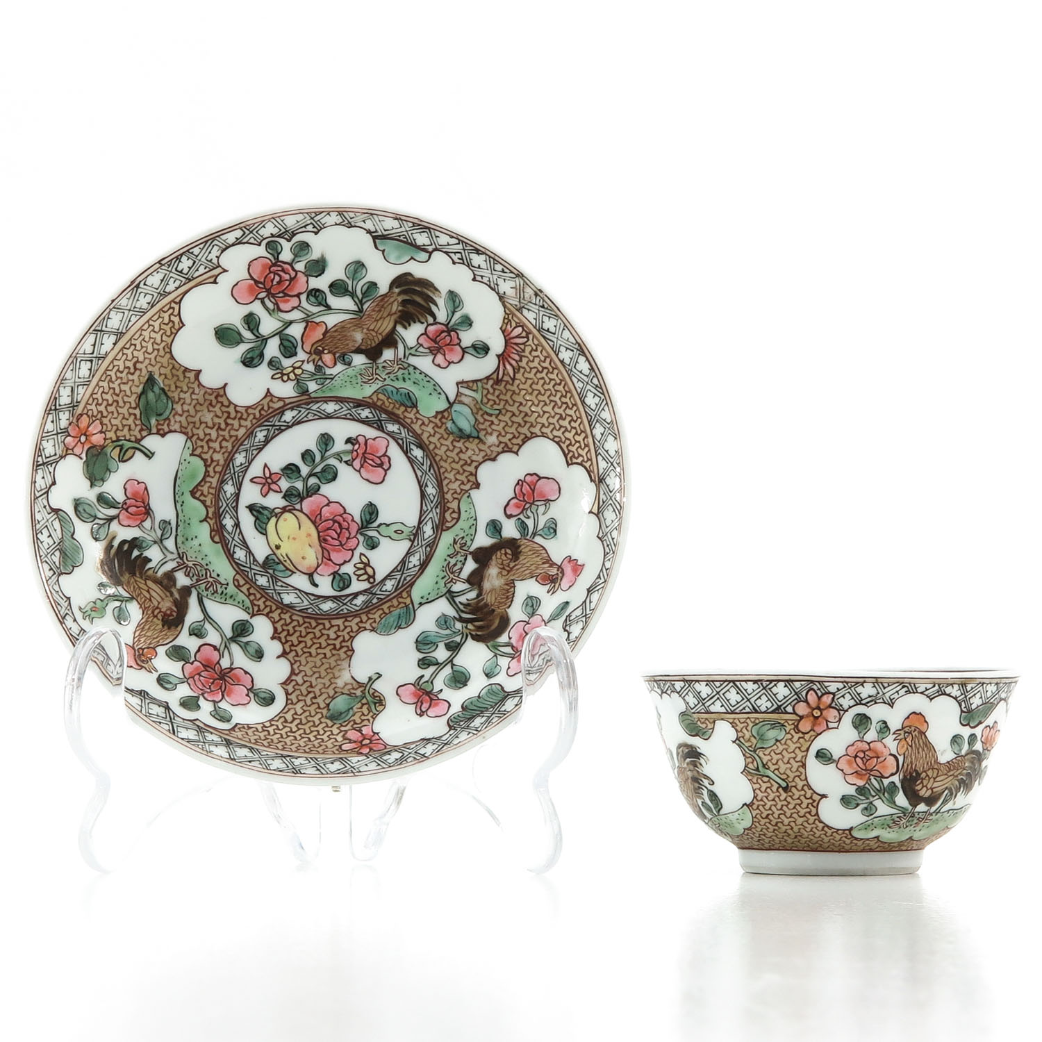 A Rooster Decor Cup and Saucer - Image 2 of 10
