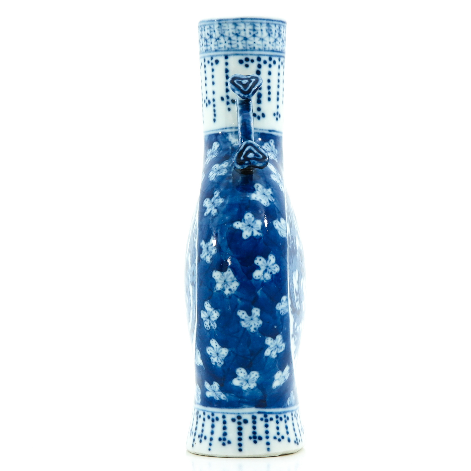 A Blue and White Moon Bottle - Image 2 of 10