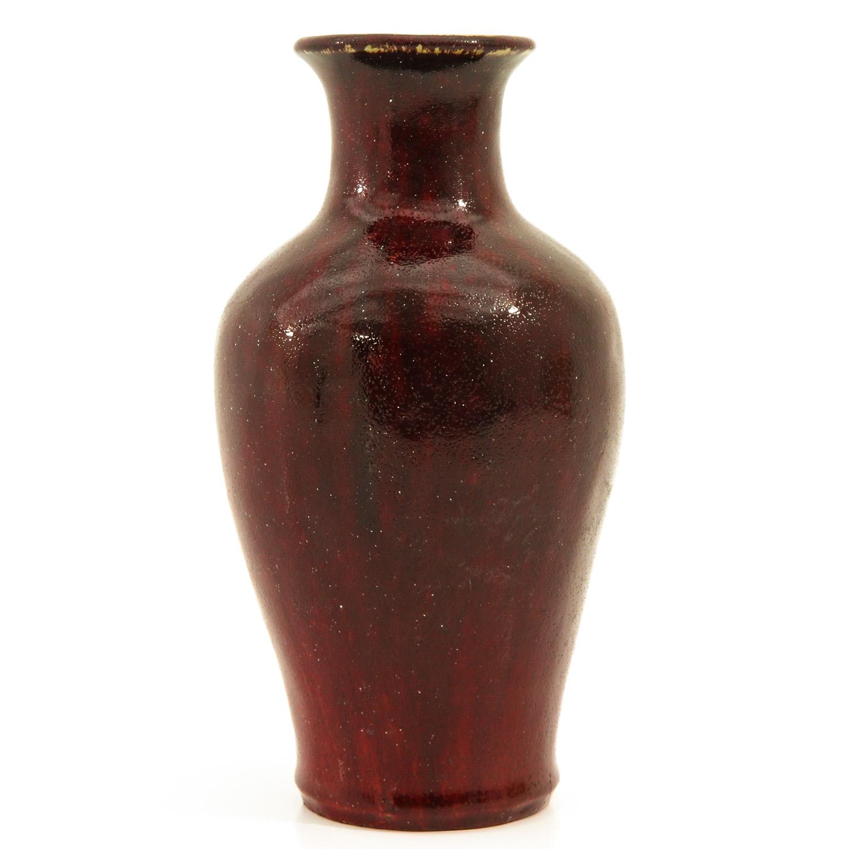 A Sang de Boeuf Vase - Image 2 of 9