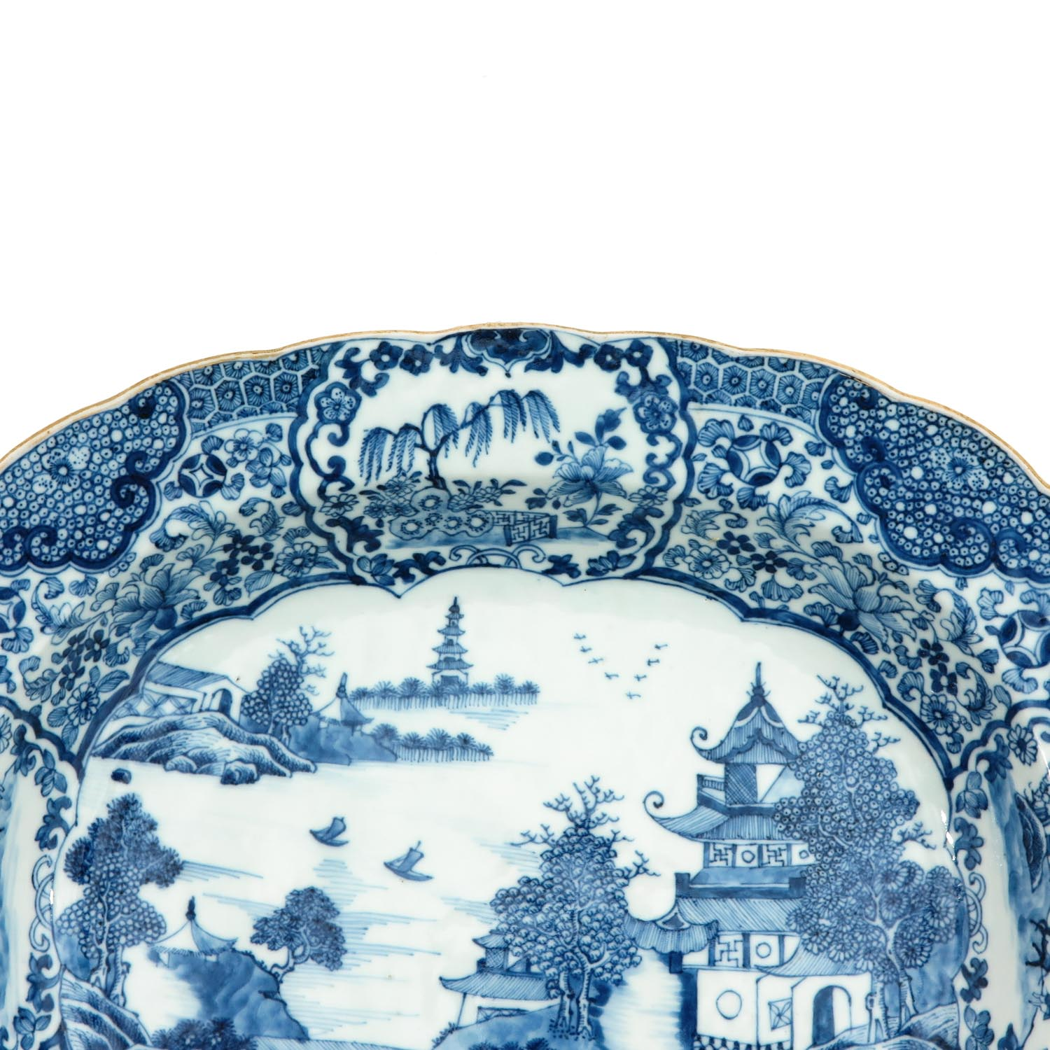A Blue and White Serving Tray - Image 3 of 7