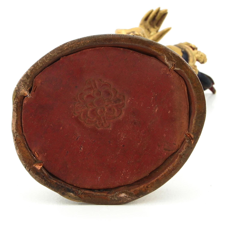 A Bronze Quanyin Sculputre - Image 6 of 10