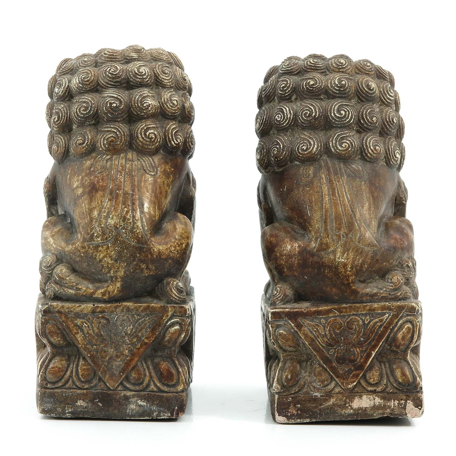A Pair of Stone Temple Lions - Image 3 of 9