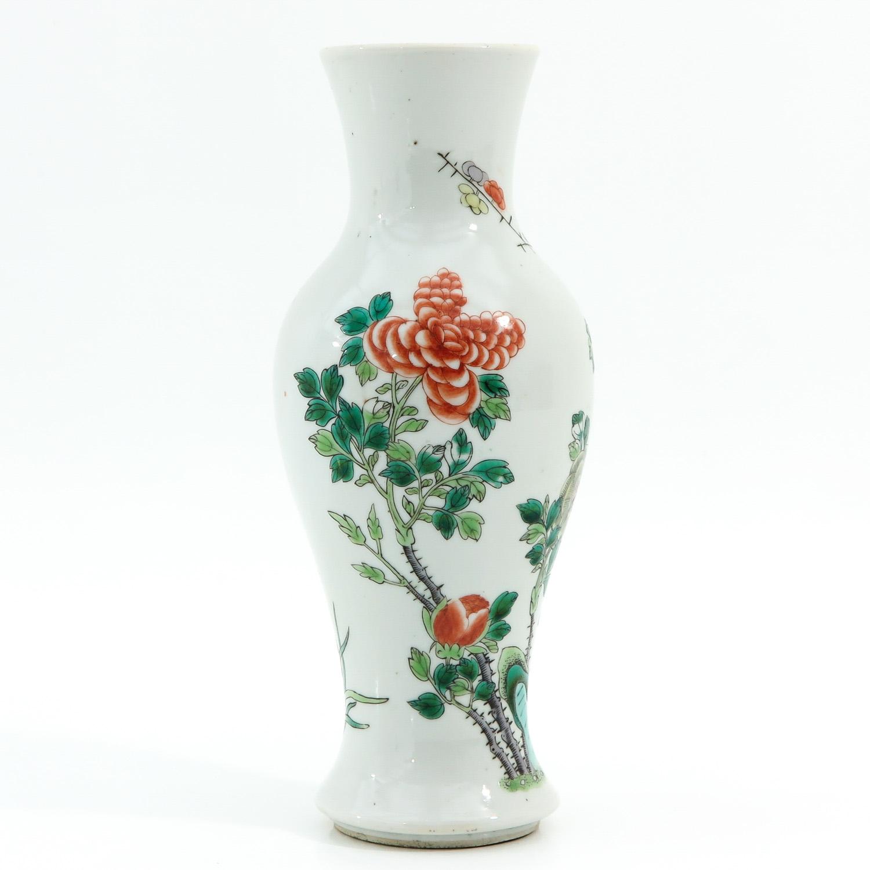 A Famille Verte Vase - Image 3 of 10