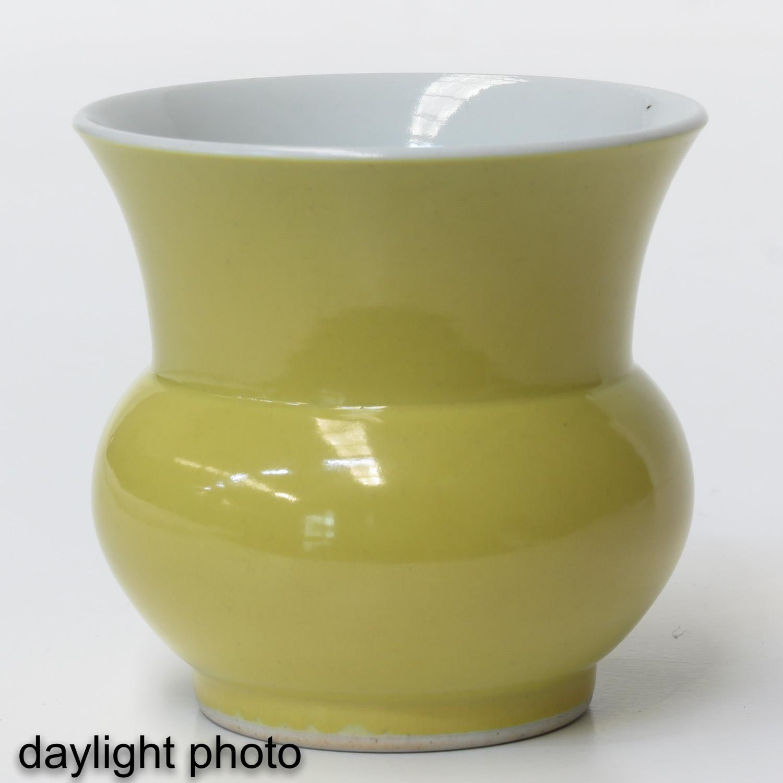 A Yellow Glazed Vase - Image 7 of 9
