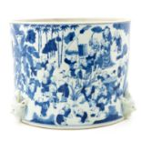 A Blue and White Planter