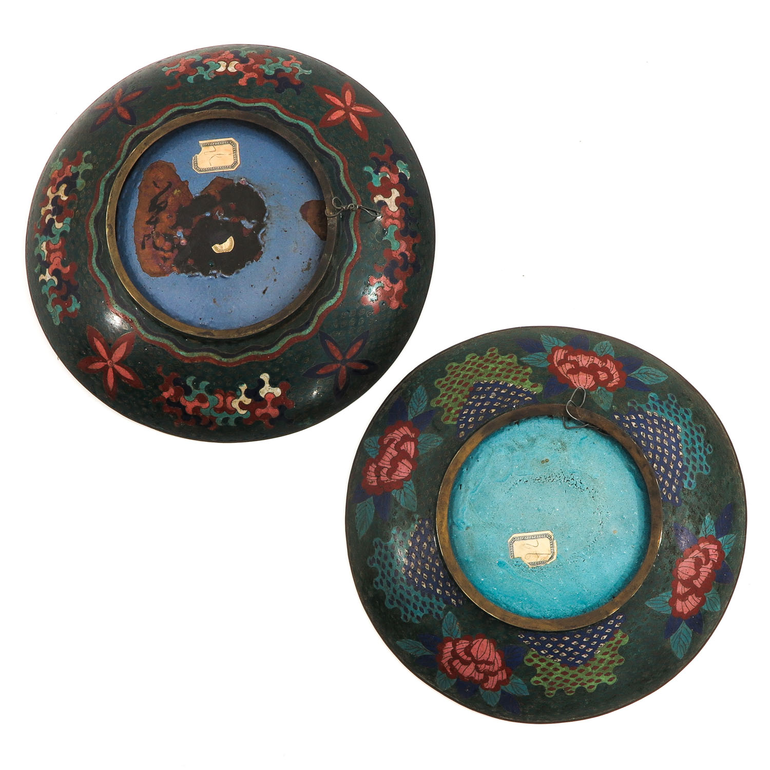 A Pair of Cloisonne Chargers - Image 2 of 10