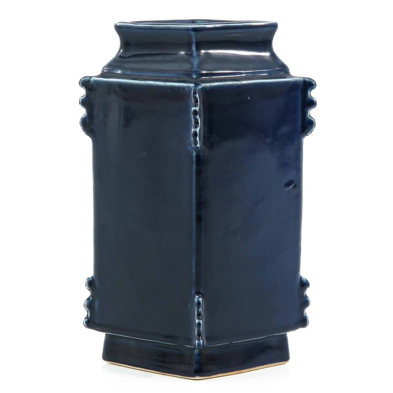 A Blue Glaze Vase