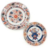 Two Imari Decor Plates