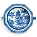 A Blue and White Plate Warmer