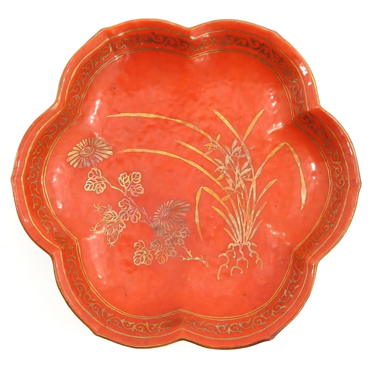 A Famille Rose Altar Dish - Image 5 of 10