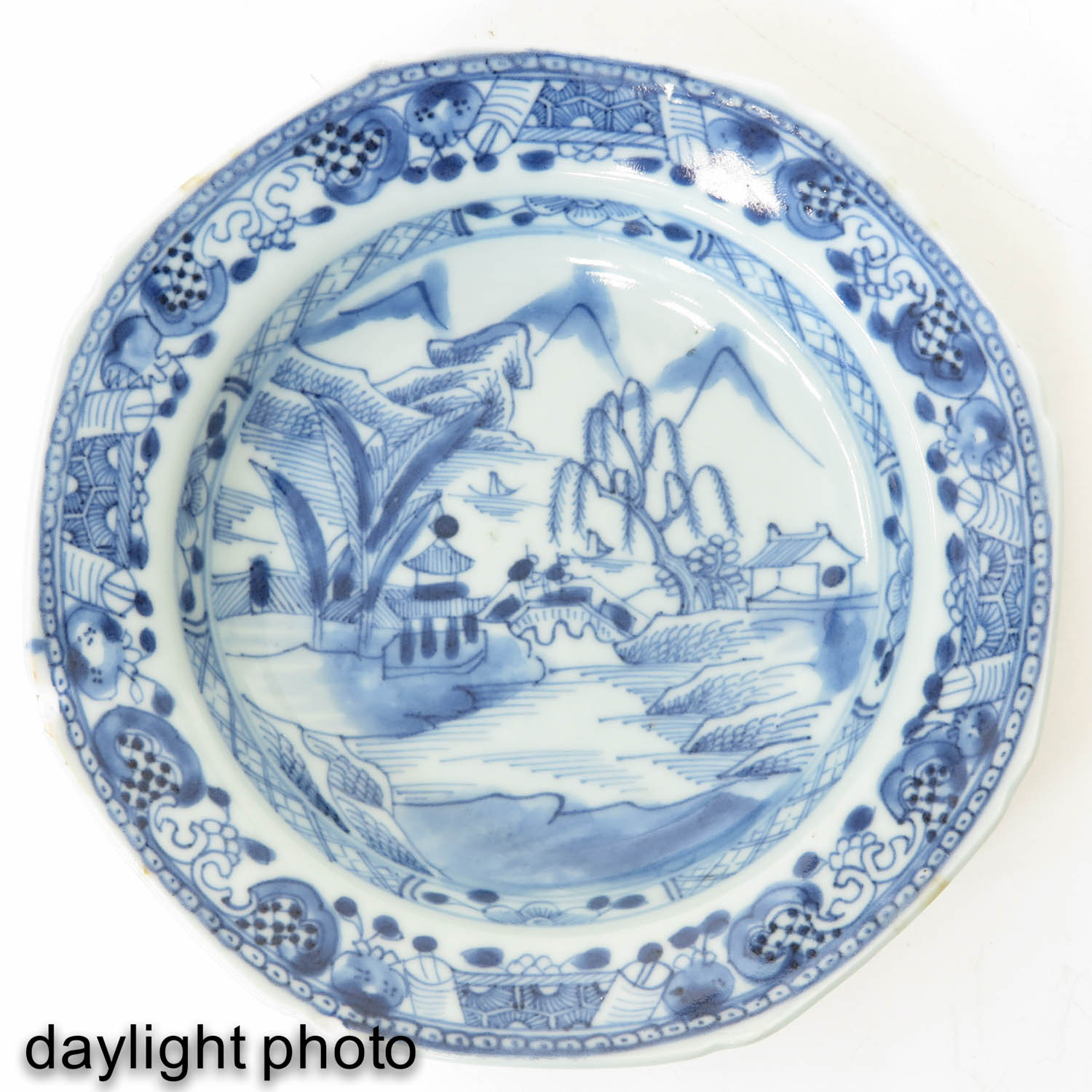 A Series of 8 Blue and White Plates - Image 7 of 9